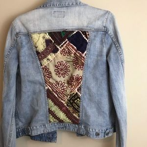 Lucky brand patchwork denim jacket L